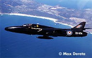 Hawker Hunter over Cape Town - Single engine two seat (side by side) transonic